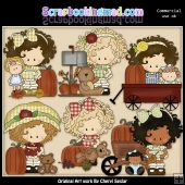 Little Lucy Fall Wishes ClipArt Graphic Collection