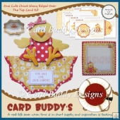 One Cute Chick Wavy Edged Over The Top Card Kit