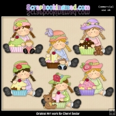 Bridget Loves Cupcakes ClipArt Collection