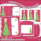 Oh Christmas Tree JPEG Scalloped Edge Tri-Fold Card Download