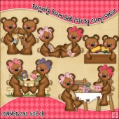 Raggedy Bears Best Pals ClipArt Graphic Collection