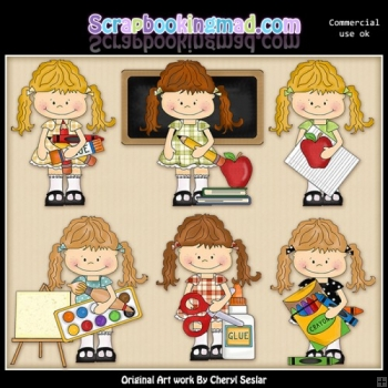 Happy Lulu Goes To School ClipArt Collection