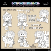 Dottie Little Princess Colour Your Own ClipArt RESALE SET