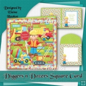 Diggers n Dozers Square Card Kit