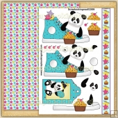 Birthday Panda Trainer PDF Decoupage Download