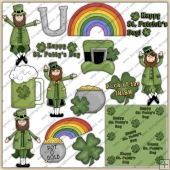 St Patricks Day ClipArt Graphic Collection