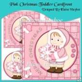 Pink Christmas Toddler Cardfront