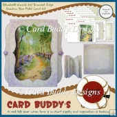 Bluebell Woods 7x7 Bracket Edge Shadow Box Fold Card Kit