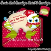 Santa Owl Envelope Card & Envelope
