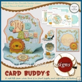 Wild About You Double Decker Wavy Edged Round Easel Card Kit