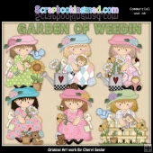 Dress Up Darcy Garden Of Weedin ClipArt Collection