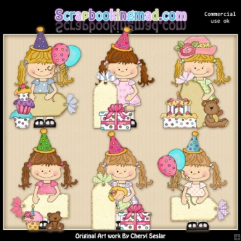 Happy Lulu Birthday Tags ClipArt Collection