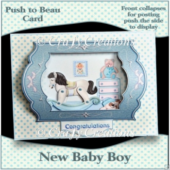 Push to Beau Card - New Baby Boy