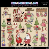 Christmas Holidays ClipArt Graphic Download Collection