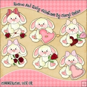 Roscoe and Ruby Valentines ClipArt Graphic Collection