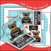 Best Teacher Bear PDF Easel Card Download