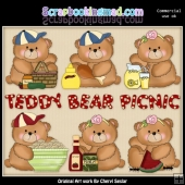 Booboo Bears Teddy Bears Picnic ClipArt Collection