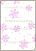 A4 Backing Papers Single - Pink Snowflakes - REF_BP_121