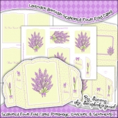 Lavender Birthday Scalloped Four Fold Card & Envelope