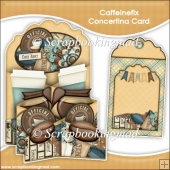 Caffeinefix Concertina Card & Envelope
