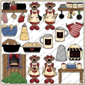 Mama Bears Kitchen ClipArt Graphic Collection