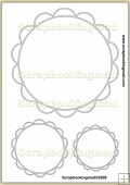 Round Cameo Template Overlay in 8 Sizes PDF Sheet