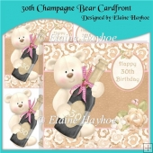 30th Champagne Bear Cardfront