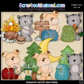 Tuff And Tiger Go Camping ClipArt Collection