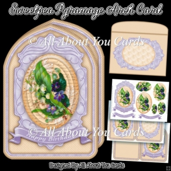 Sweetpea Pyramage Arch Card