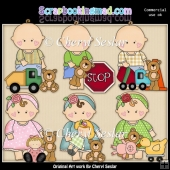 Barefoot Babies Play Date ClipArt Collection
