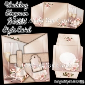 Wedding Elegance Buckle Style Card