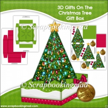 3D Gifts On The Christmas Tree Gift Box