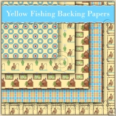 5 Yellow Fishing Backing Papers Download (C72)