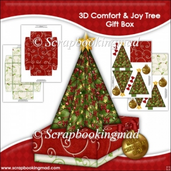 3D Comfort and Joy Tree Gift Box