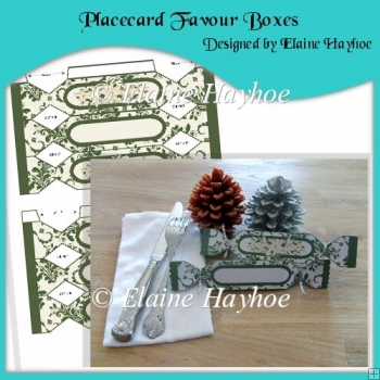 Placecard Favour Boxes