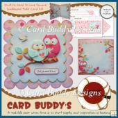 Owl Ya Need Is Love Square Scalloped Fold Card Kit