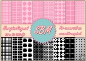 8 PNG Paper Overlays 12 x 12 Designer Resources Pack 1