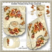 Golden Roses Drop Flap Card Kit