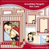 Snowflake Penguin Box Card