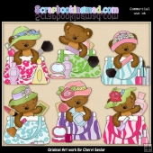 Makeup Bag Bears ClipArt Collection