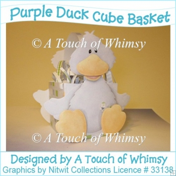 Purple Duck Cube Basket/Box