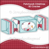 Patch Work Christmas Snowman 3D Cracker Gift Box