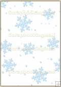 A4 Backing Papers Single - Blue Snowflakes - REF_BP_125