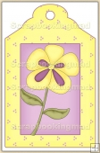 Yellow Pansie Tag - REF_T434