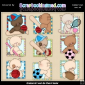 Kitty Squares All Stars ClipArt Graphic Collection