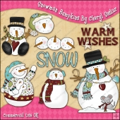 Snowman Bumpkins ClipArt Graphic Collection