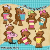 Latte Bears ClipArt Graphic Collection