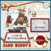 Christmas Dual Greetings Shaped Easel Card Kit