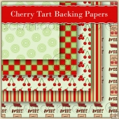 5 Cherry Tart Backing Papers Download (C62)