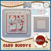 Patchwork Christmas Rounded Corner Fold Card Kit